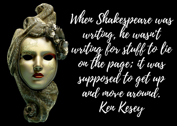 Venetian mask Ken Kesey quote
