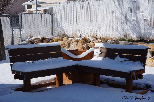 snow-covered-benches