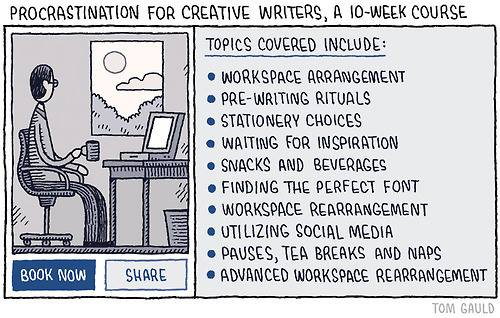 procrastination-for-creative-writers